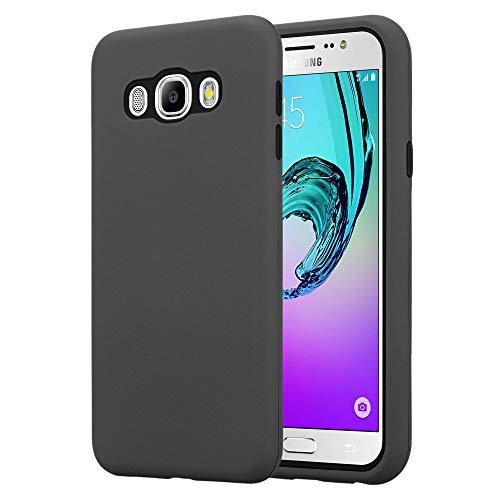 Cadorabo Funda para Samsung Galaxy J7 2016 en Gris Cuarzo - Hybrid Cubierta con Interior Silicona TPU e Bipartito Exterior Plástico - Case Cover Carcasa Protectora Ligera