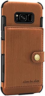 Protective Case Compatible with Samsung Brushed PU Leather Flip Folio Wallet Case Business Multi-Card Slots Durable Shockproof Protective Cover Compatiable Samsung Galaxy S8 Plus Phone case