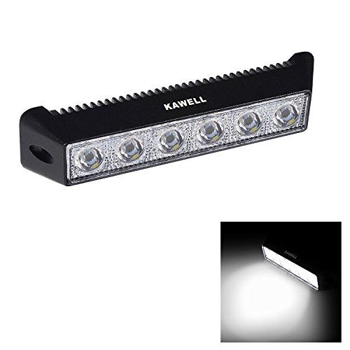 KAWELL 18W LED Barre de Travail Phares LED Projecteur Offroad Feux antibrouillard pour Voiture Chantier 4x4s ATV Tout-Terrain Bateau Camions