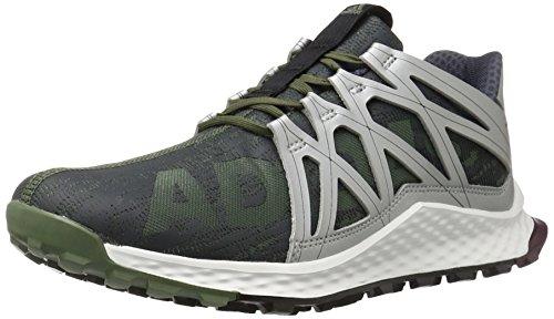 adidas Men's Vigor Bounce M Running Shoe, Base Green/Black/White, 9 M US