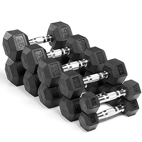 Learn More About Haoyushangmao Hex Chromed Dumbbell Rubber Dumbbells Gym Strength Fitness Equipment ...