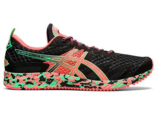 ASICS Men's Gel-Noosa Tri 12 Running Shoes, 8M, Black/Flash Coral