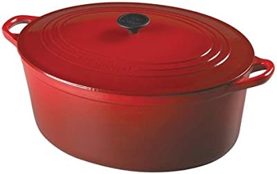 Le Creuset Enameled Cast-Iron 15-1/2-Quart Oval French Oven, Cherry