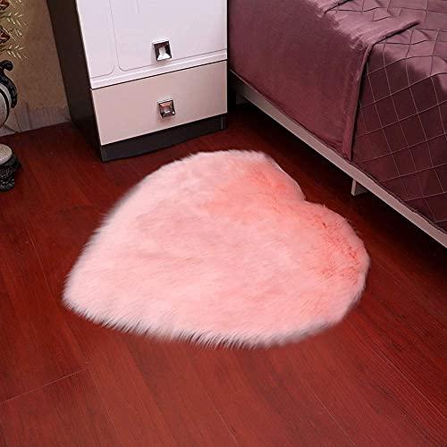 Hogreat Teppiche Teppich Traum rosa herzf?rmige Plüsch Rundheit rutschfeste Matte, Bodenmatte, Innendekoration, Wohnzimmer Couchtisch und Schlafzimmer Sofa Fu?Matte (Gr??e:90cm) (Size : 90cm)