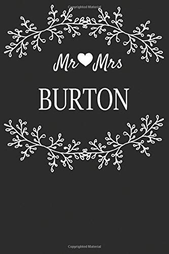 Mr Mrs Burton: Marriage Journal For Newlywed Young & Old Couples