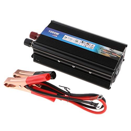 Fenteer Inversor De Corriente 1000wcar 12v / 24v Dc A Inversor Solar De Onda - 1000w 12V a AC 220V