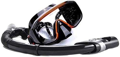 ZouYongKang Vista panorámica Máscara de buceo de buceo, lente de buceo de snorkeling, gafas de baño de primera calidad con cubierta de nariz, máscara de silicona Equipo de buceo para adultos en mascar