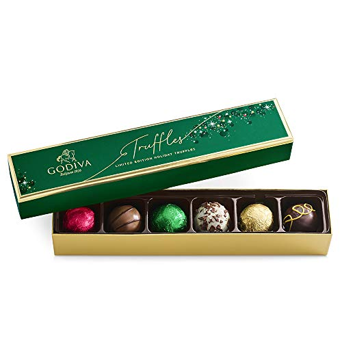 GODIVA Chocolatier Limited-Edition Holiday Truffle Assorted Gift, Chocolate, 4.1 Oz