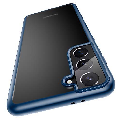Meifigno Hülle kompatibel mit Samsung Galaxy S21 5G [Militärgeprüft], Matter PC mit weichen Rahmen, stoßfeste Handyhülle kompatibel mit Samsung Galaxy S21 6.2