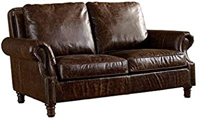 Amazon.com: Ultra Modern Plush Leather Living Room Sofa ...