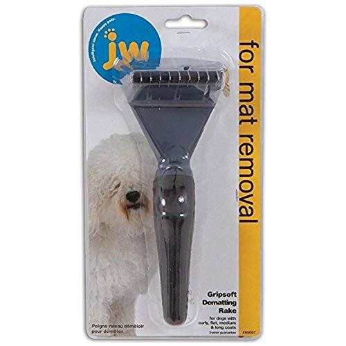 William Hunter JW Gripsoft Dematting Grooming Rake for Dogs