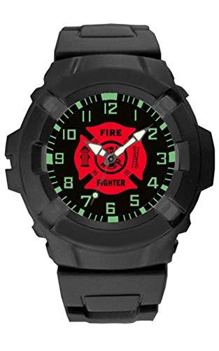 Aqua Force Bomberos Logo Reloj de cuarzo 47mm de diámetro, color negro con cara