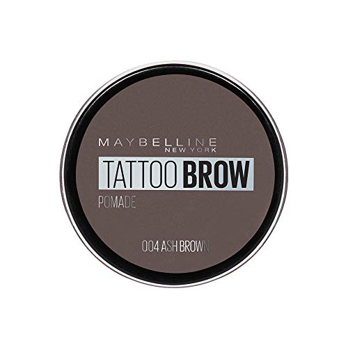 Maybelline New York Tattoo Brow Augenbrauenpomade in Nr. 04 Ash Brown, 4 ml