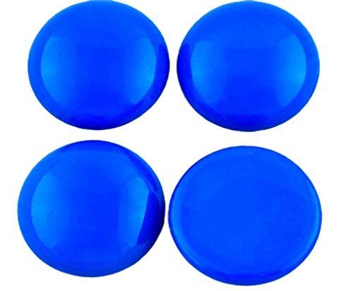 2pcs Opaco Azul Zafiro Redondo Cúpula de las planas de Cristal checo Cabujones de 20