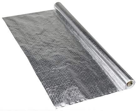 Aluminium Dampfsperrfolie 1,50m x50m (75qm) Dampfbremsfolie für Dächer Dachgeschosse Decken Böden Wände