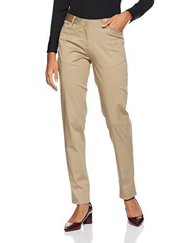 Van Heusen Woman Trouser Suit (VWTF1D86275_Medium Khaki Solid_66)