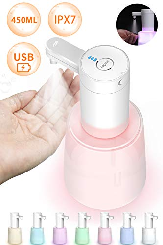 Auckly 【Touchless/450ml/USB】Desinfektionsspender Automatisch Sprühspender Mit Induktion Sensor Stehend 450ml USB-Aufladung IPX7 Wasserdichtes