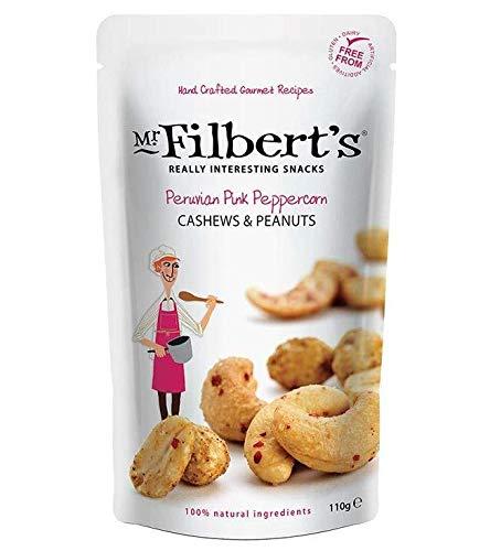 Mr. Filberts geröstete Cashewnüsse und Erdnüsse mit Meersalz und peruanischem rosa Pfeffer - 1 x 110 Gramm