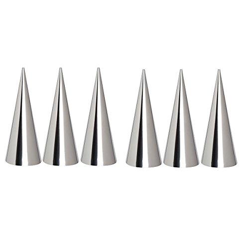 Lot de 6 acier inoxydable Schiller Boucles formes hörnchen trubotschki Lot de moule de siphon mousse rouleaux formes 12 x 4 cm Pâtisserie OUTILS