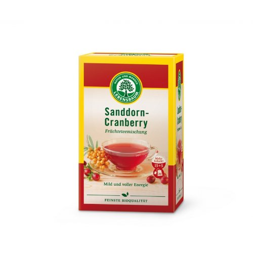Lebensbaum Sanddorn-Cranberry-Tee im Beutel (50 g) - Bio
