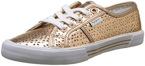 Pepe Jeans London Damen ABERLADY Daisy Sneaker, Orange (Peach), 38 EU