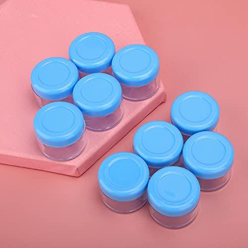 Botella de crema DIY Contenedor de gel portátil Contenedor de cosméticos Macetas 20pcs para viajes para el hogar para mujer para salón para polvo