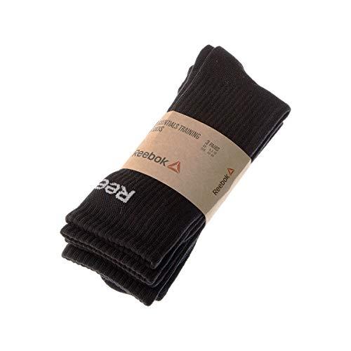 Reebok Socke mittelhoch - 3 pack - ohne Frotte - Handball - Coton - Noir - Essentials training crew - 40/45
