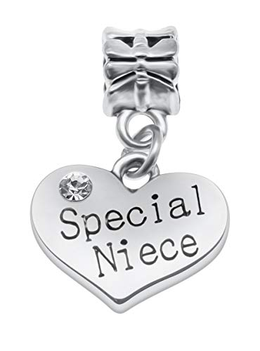 Message Pendant Charms for Charm Bracelets - 28 Message Options to Choose...