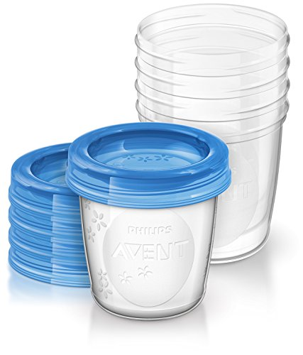Philips AVENT Breast Milk Storage Cups, 6 Ounce (Pack of 5) by Philips AVENT