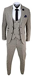 Based On 1920s Tailoring At The Time Of The Infamous Blinders & Gatsby This Suit Is Perfect For Events Such As Weddings, Proms, Parties, Races Or Office Wear! Many More Styles & Colours Available in Store! Premium Light Brown Tweed Check Fabric With ...