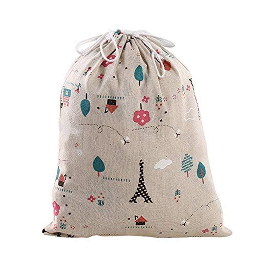 Bledyi Bledyi- 1 Unidades Bolsa de algodón con Cuerdas - Pequeña Saco Bolsas - Bolsa Inserto Organizador para bebé Ropa Juguete pañales - Bolsa de Regalo - 32.5x24.5cm, 24.5x18cm, 16.5x14cm