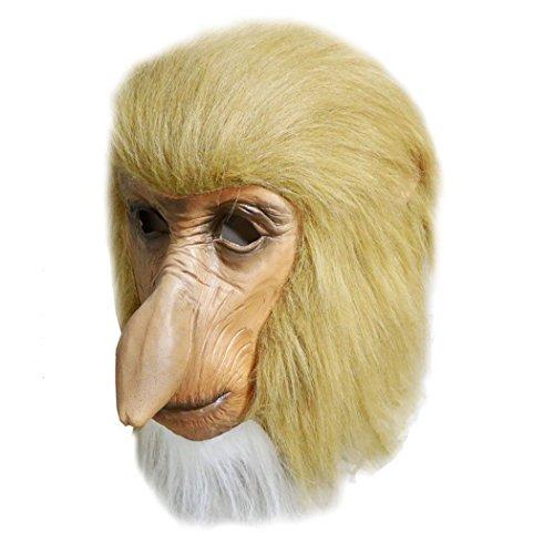 MASCARELLO Mono narizón máscara Nariz Largo látex