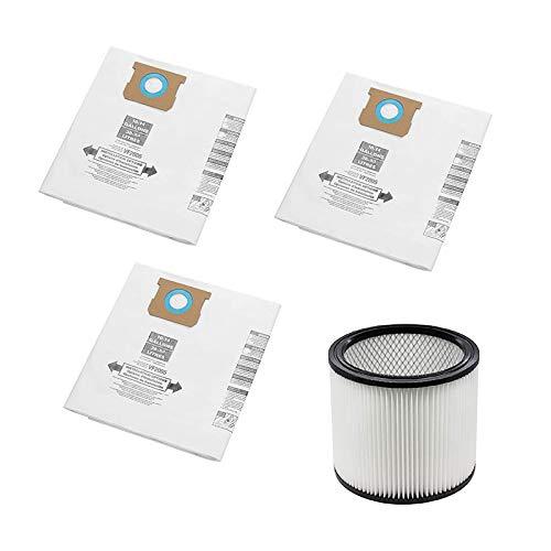 Nirmon VF2005 Bolsas de Filtro de RecoleccióN de VacíO + Filtro de Repuesto para 9066200 10-14 Galones 90662 y 90350 90304 90333