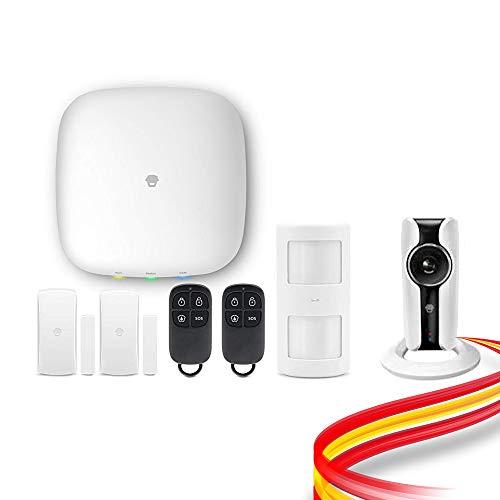 Kit de Alarma Chuango H4 Plus WiFi + GSM con Cámara HD WiFi. Detección inhibidores y notificación fallo alimentación. Sistema sin Cuotas. Soporte desde España
