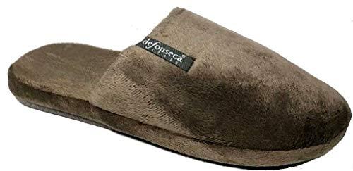 de fonseca Pantofole Ciabatte Invernali da Uomo MOD. Roma Top M224 Grigio 43/48 (45/46)
