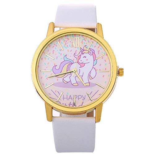 SANDA Relojes De Pulsera,Nuevo Reloj de Pulsera de Estilo Reloj de Cuarzo para Mujer-Blanco