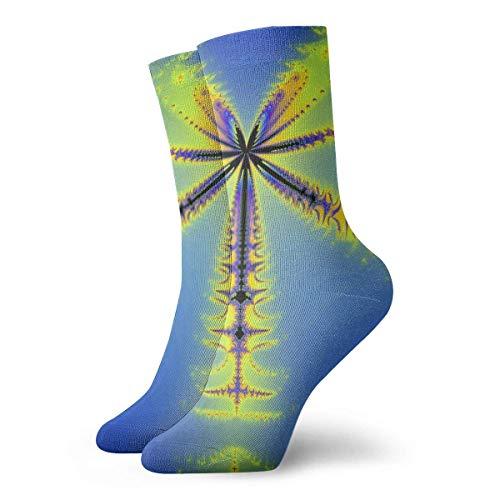 XCNGG Calcetines Imagen fractal en forma de mariposa voladora Calcetines de trabajo de algodón para hombres acolchados