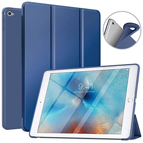 "MoKo Funda Compatible con iPad Air 2, Superior Delgada Protectora Case con Tapa Trasera Esmerilada Translúcida Compatible con Apple iPad Air 2 9.7"" - Azul Marino"