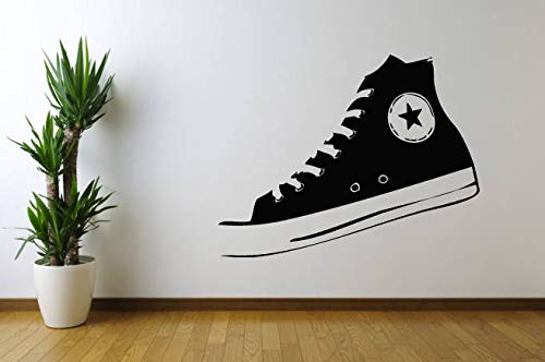 Calcomanía de vinilo para pared, arte en la pared, arte de zapato de vinilo adhesivo para pared, decoración de hogar