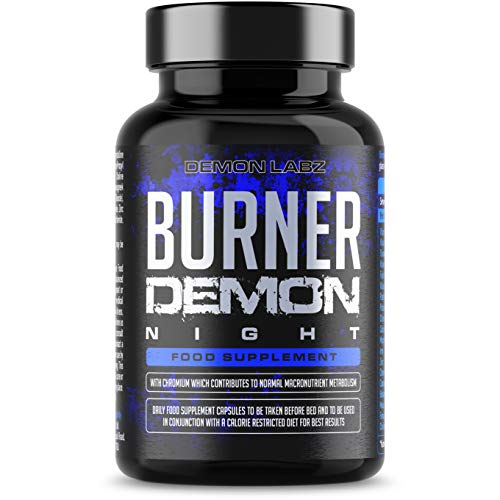 Demon Burner Night – Before Bed Demon Burner for Men and Women - Advanced Supplement with Zinc, Thiamine, Vitamins and Minerals – Non-Caffeine Formula – 120 Pills