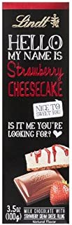 Lindt Hello My Name Is Strawberry Cheesecake Bar 4 Packs Of 3.5 oz