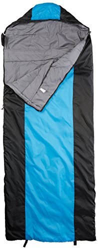 10T Schlafsack SELAWIK M -2° warm weich 1400g leicht Deckenschlafsack 200x80 Blau / Schwarz