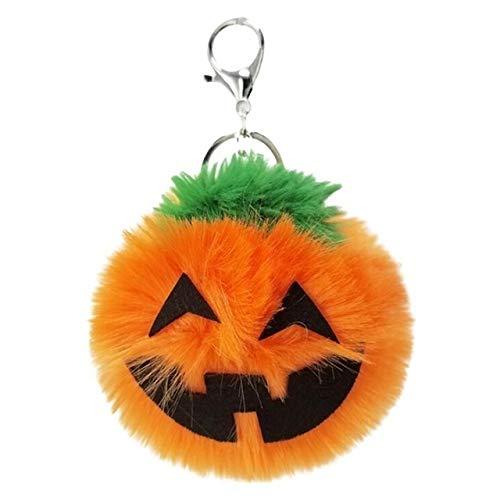 PengSF PSF 3 PCS-pompoen-pluche sleutelhanger mode-auto Halloween sleutelhanger partij cadeau (oranje) oranje