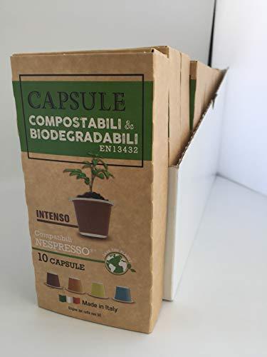 Capsule compatibili Nespresso Compostabili e Biodegradabili 100 capsule gusto Intenso