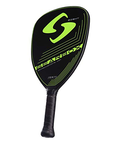 Gearbox Eight Pro 8oz 3-5/8in Carbon Fiber Teardrop Neon Yellow Pickleball Paddle
