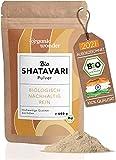 Shatavari Polvo orgánico 500 g I de la India, embotellado de Baviera I DE-ÖKO-001