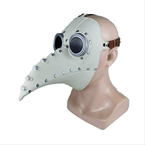 YKZZLDX Halloween Plague Doctor Beak Mask Punk Steam Retro Mascarilla El Pico del Nuevo pjaro es Beige.