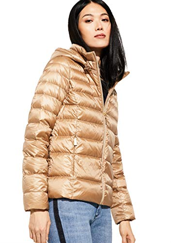 comma Damen Light Down-Jacke mit feinem Glanz Camel 36