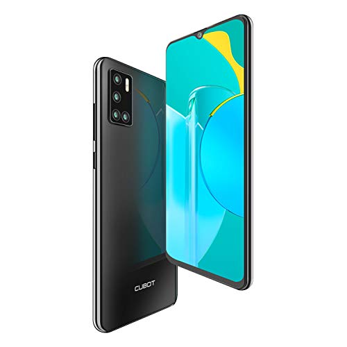 CUBOT P40 Smartphone 6.2 Pollici HD+ Waterdrop Android 10 4GB 128GB Quad Camera Batteria 4200mAh Supporto NFC Face ID Dual SIM Cellulare Nero