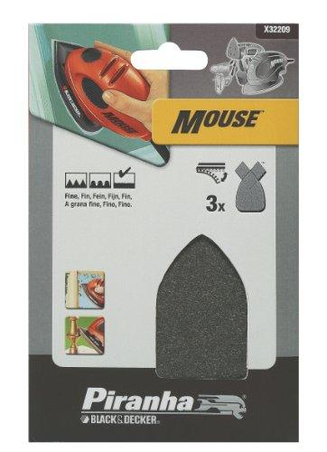 Preisvergleich Produktbild Piranha Mouse-Poliervlies (aus Stahlwolle für Kompakt-Mouse,  K7000,  feine Körnung,  mit Klett-Fix) 3 Stück,  X32209